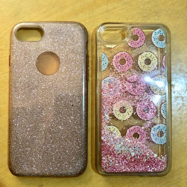 Iphone 7/8 glitter case bundle