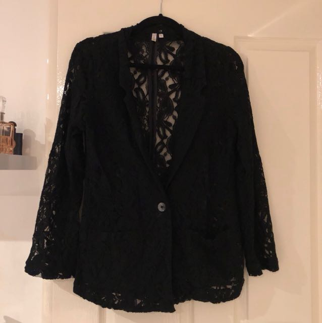 Lace blazer size 10