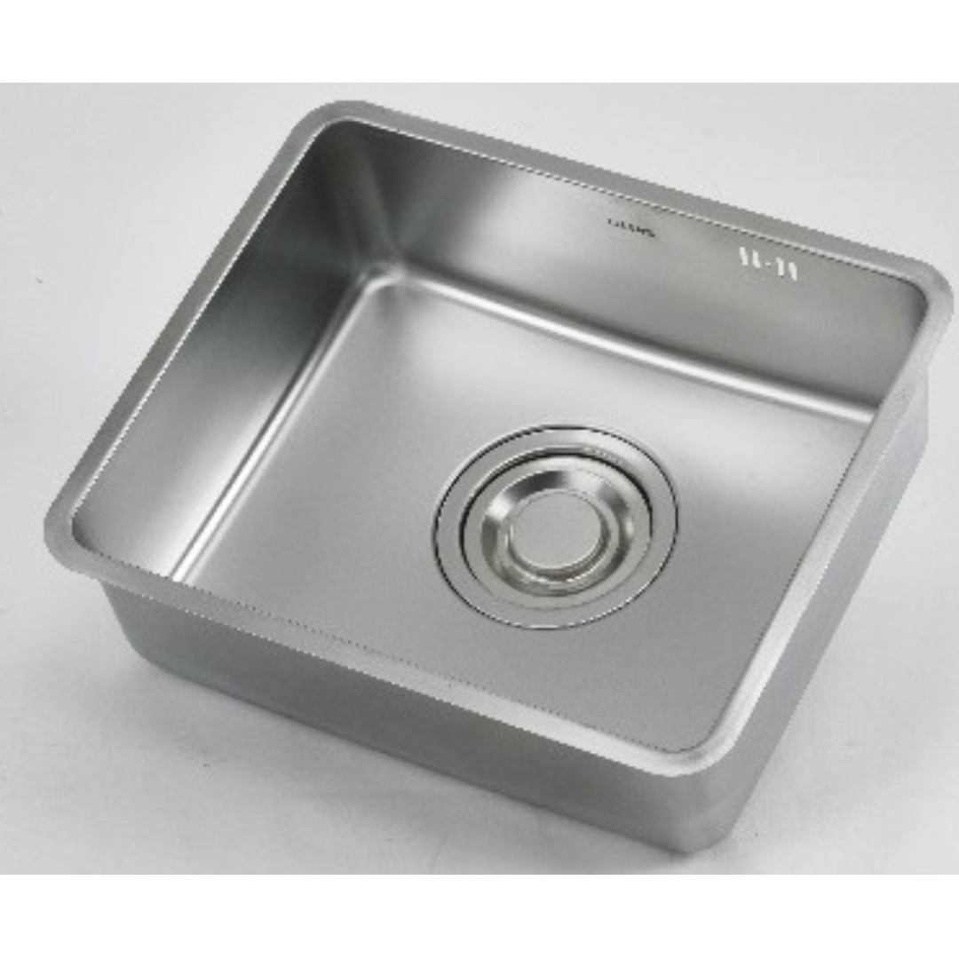 Lizens korea 50x40 rectangle sink with jumbo waste kit furniture others on carousell