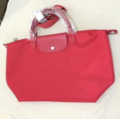 longchamp neo authentic medium red