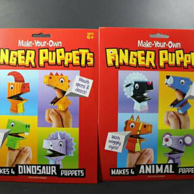 Make Your Own Dinosaur And Animals Finger Puppet