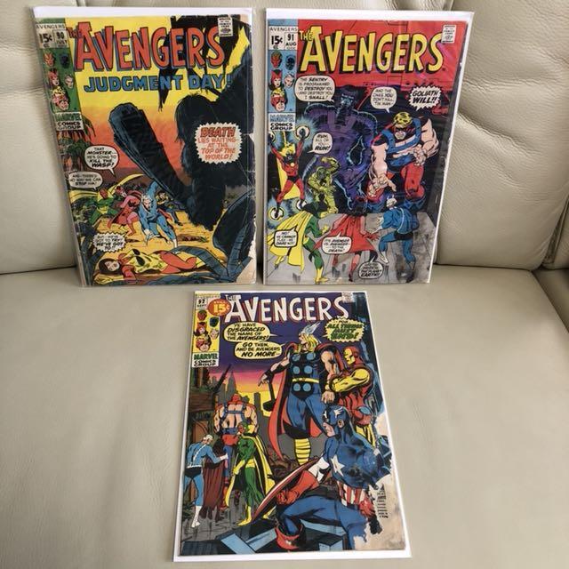 MARVEL COMICS Low Grade Silver Age Lot (5 books)- Avengers & Fantastic Four