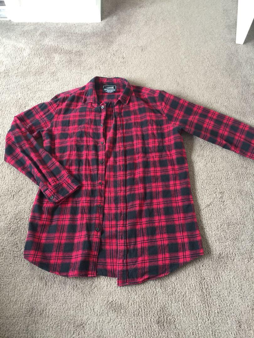 Men's flannel red shirt
