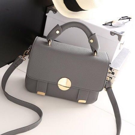 MISS GEE COLLECTION SLING BAG GREY