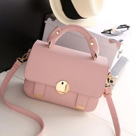 MISS GEE COLLECTION SLING BAG PINK