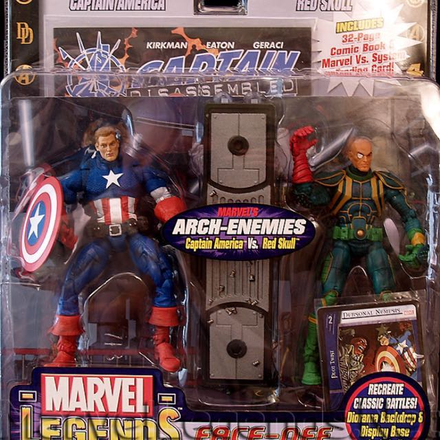 Marvel Legends Face Off Base came with Captain America and Red Skull Strucker