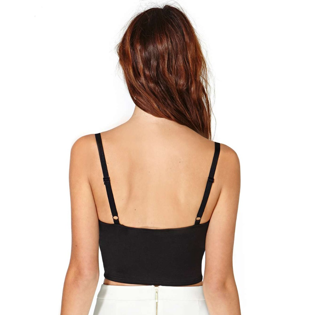 d3122f07307 NASTYGAL INSPIRED BLACK UNDER WRAPS CROPPED TOP, Women's Fashion, Clothes,  Tops on Carousell