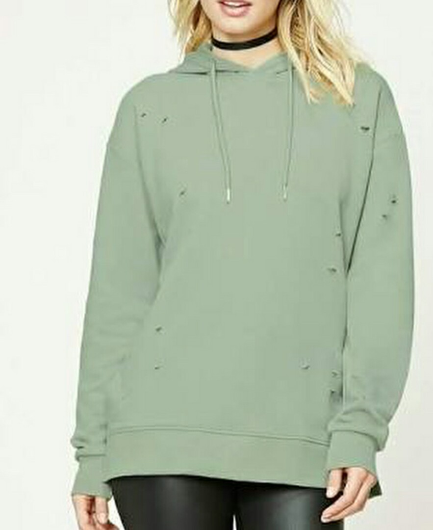 (NEW) Forever 21 Distressed Hoodie