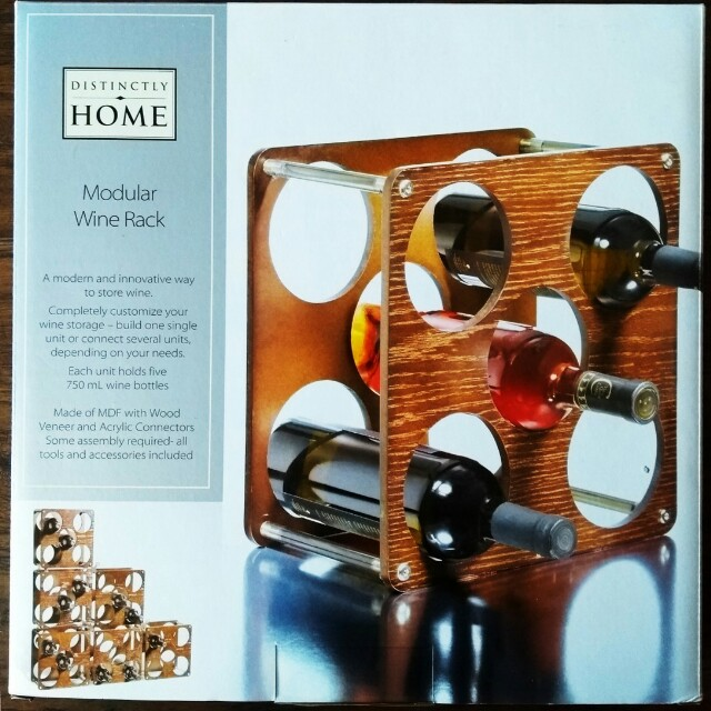 NEW IN BOX - Wooden Wine Rack