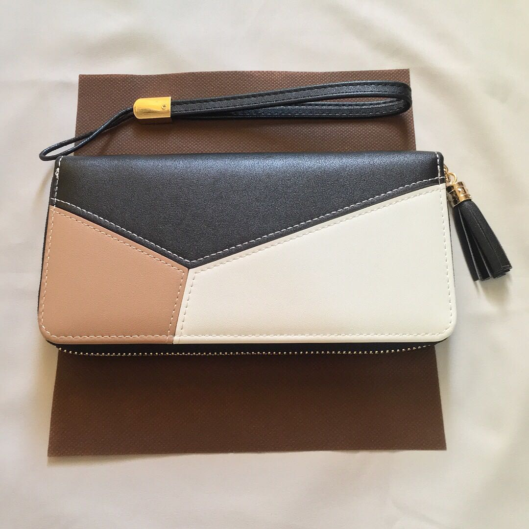 New Leather Wallet with Zipper