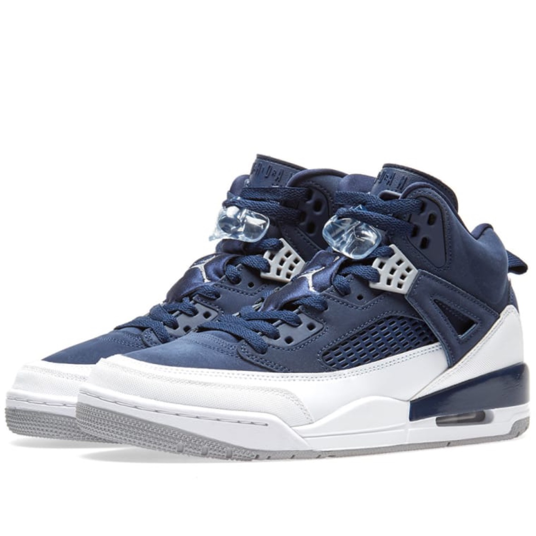 new arrival e9d4e 42df3 NIKE AIR JORDAN SPIZIKE MIDNIGHT NAVY, SILVER   WHITE, Men s Fashion ...