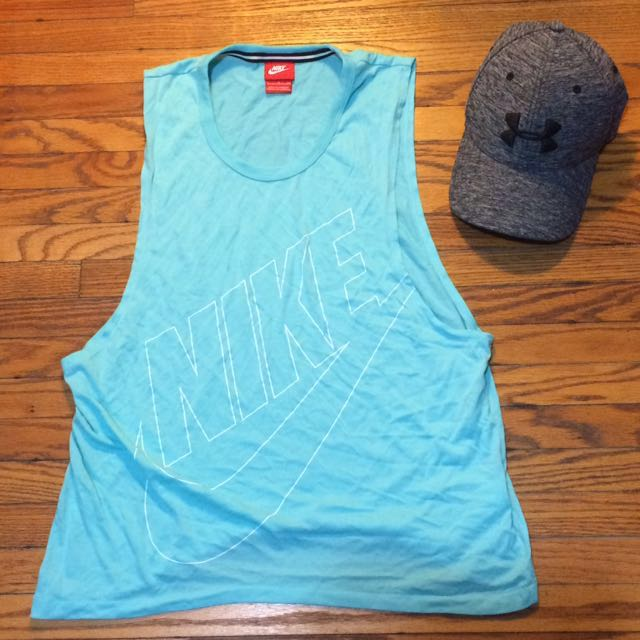 Nike work out top + Under Armour Hat