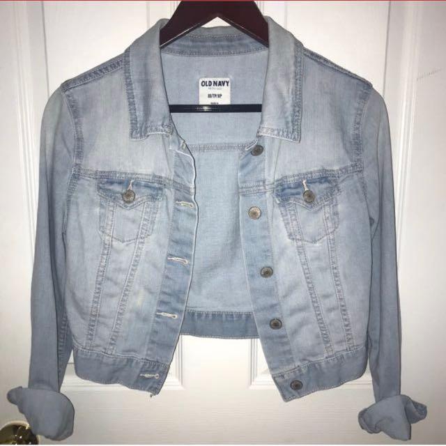 OLD NAVY cropped jean jacket