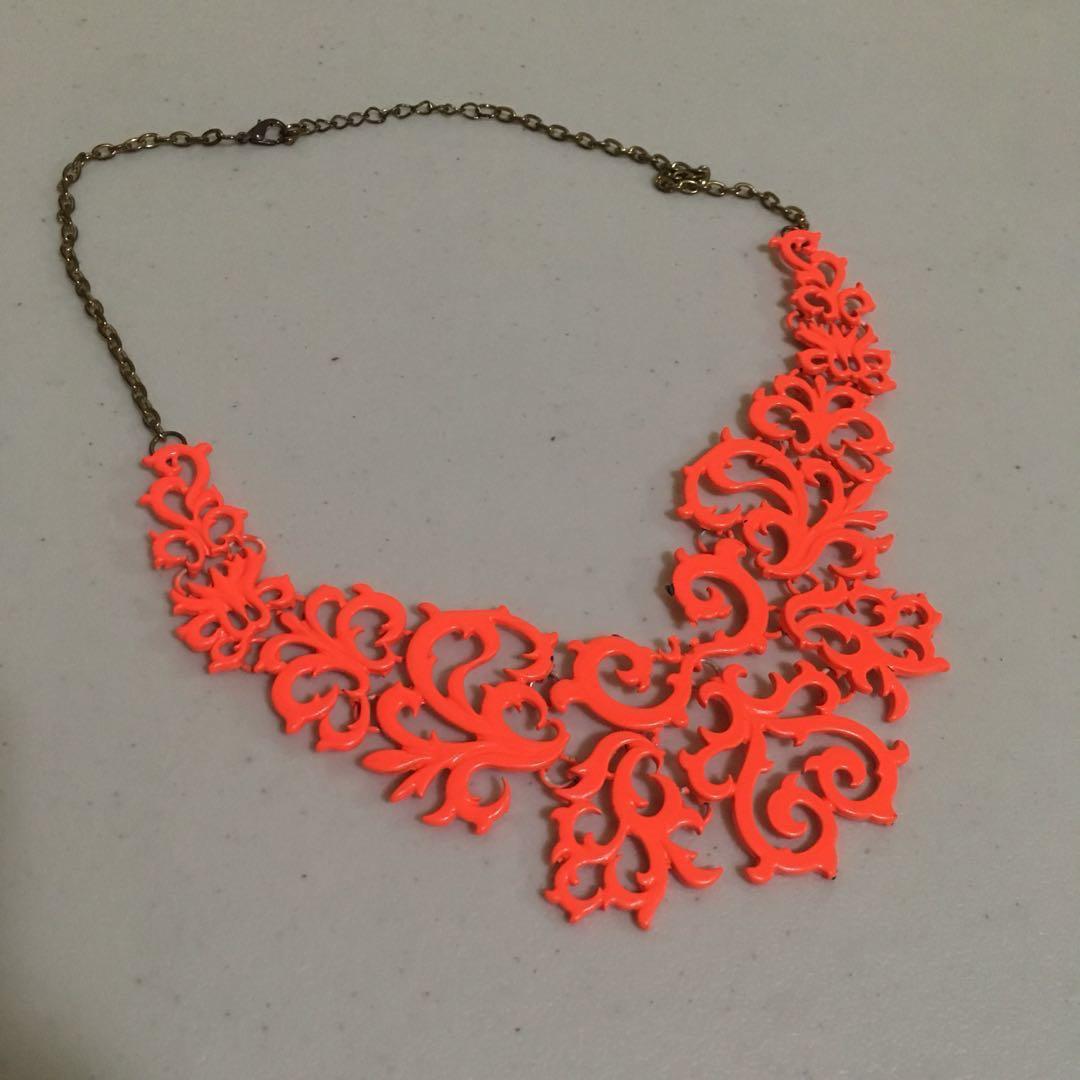 Orange Neckpiece