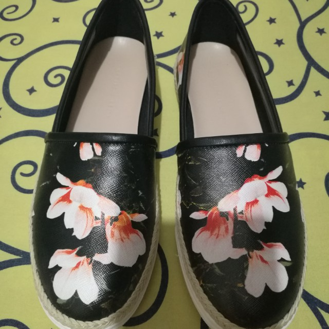 Original Charles and Keith Covered Plimsolls Espadrilles