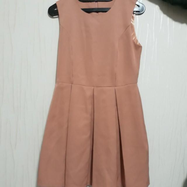 Peach formal dress
