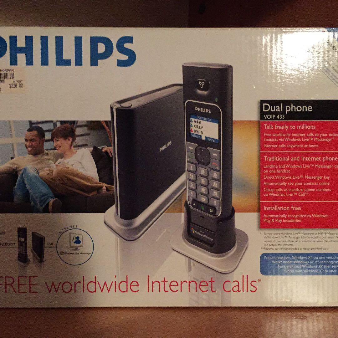 Philips Dual Phone VOIP 433 for Windows Live Messenger Calls