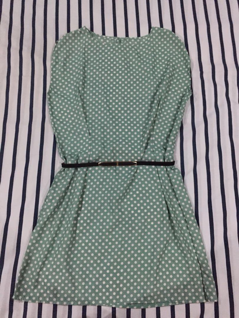Polka Dot Mint Green Dress