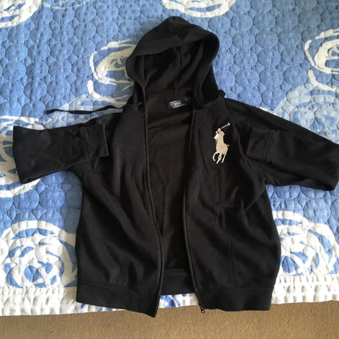 Polo zip hoodie size M