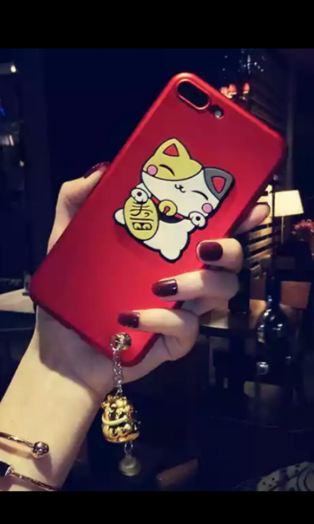 Samsung Note 4 Red Phone Cover (Lucky Cat)