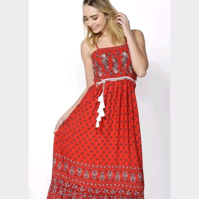 Sass red dress size 8