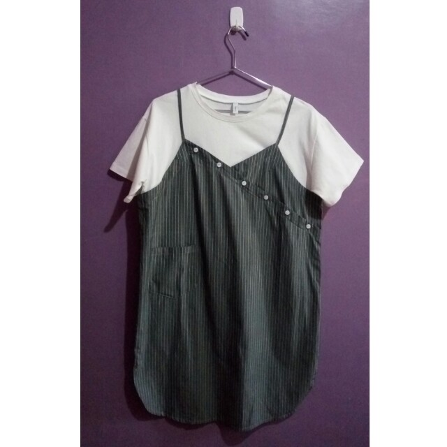 Slip On Dress with Inner Shirt (attached)