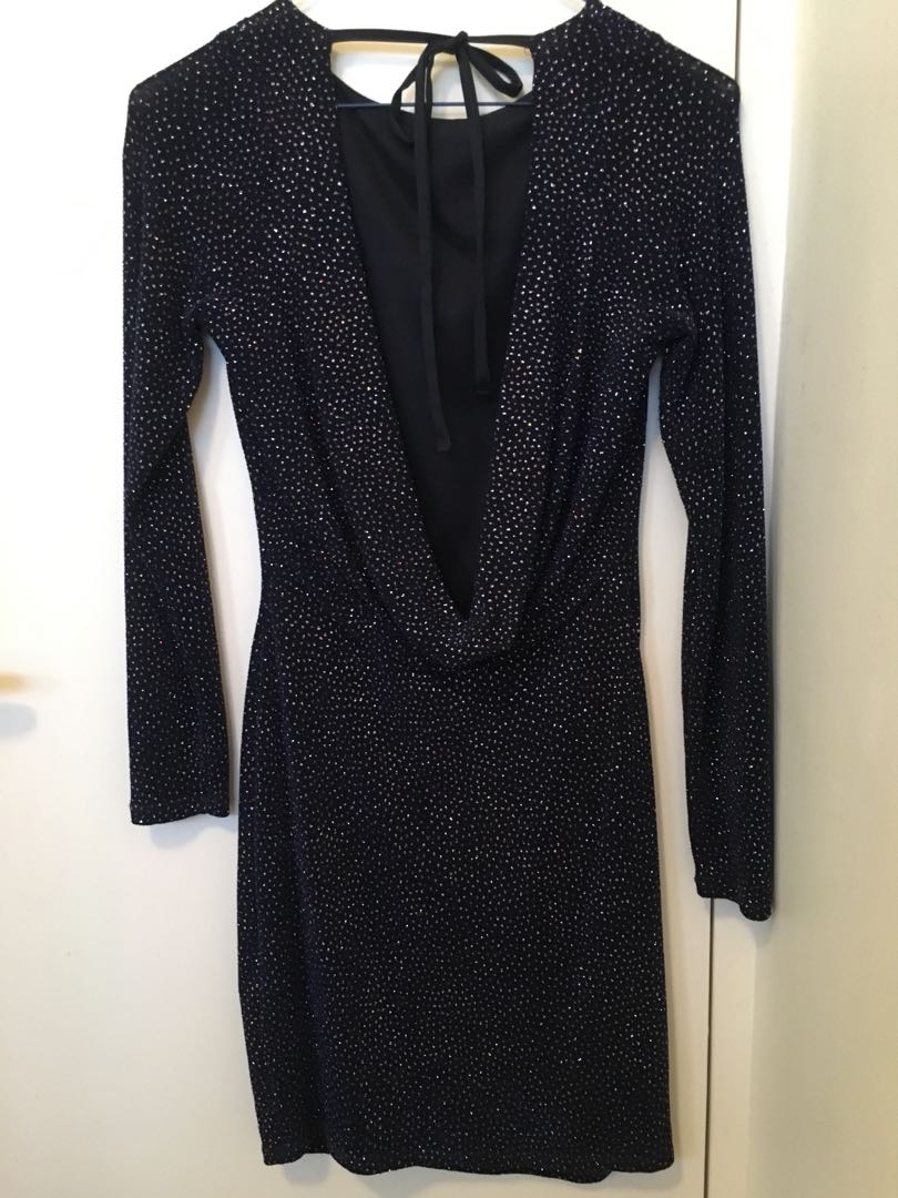 Sparkly low back cocktail/party dress size 10 Small