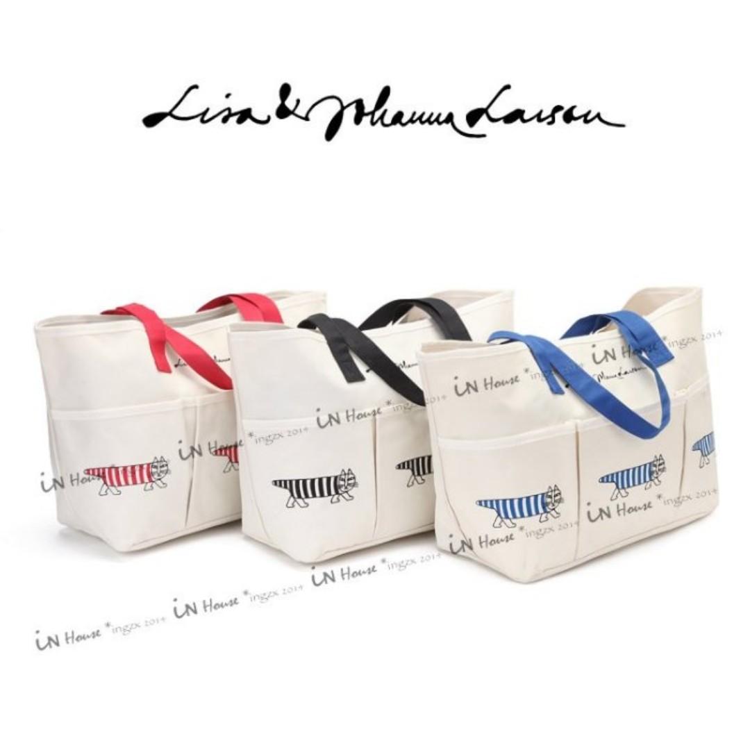 日本suntory coffee合作 Lisa Larson 貓咪 大托特包 購物袋 帆布袋 媽媽包