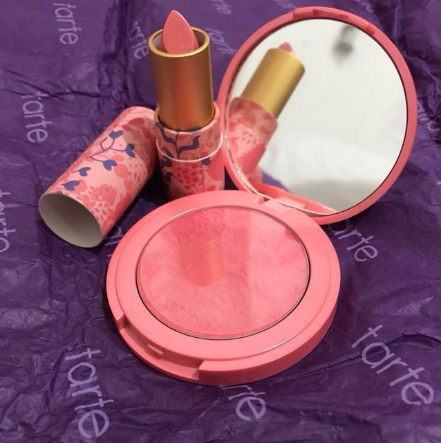 TARTE blush on and lipstick (repriced)