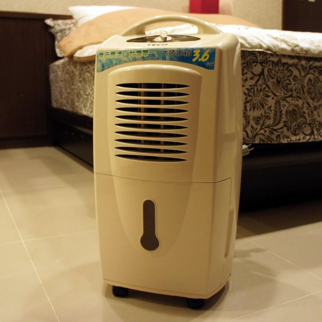 二手除濕機TECO 東元除濕機MD1096B 大儲水箱3.6公升 可調式濕度控制設計
