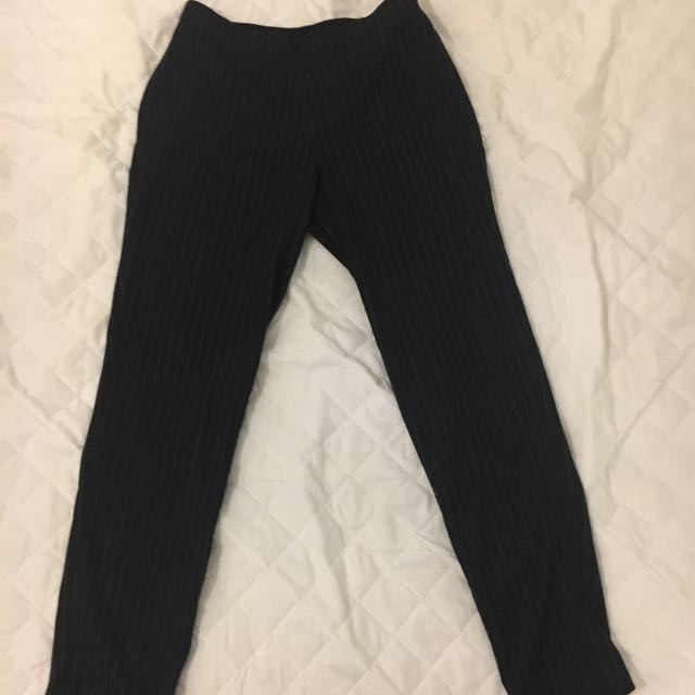 Uniqlo stripe work pants