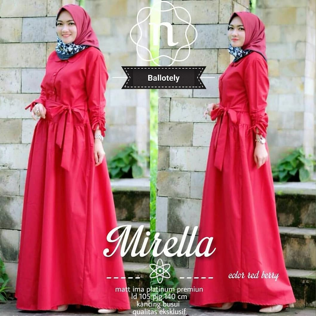 Grosir Baju Long Dress Muslim Wanita Murah Dan Terbaru Corina Maxy Five  Hijab Dasara Source Photo
