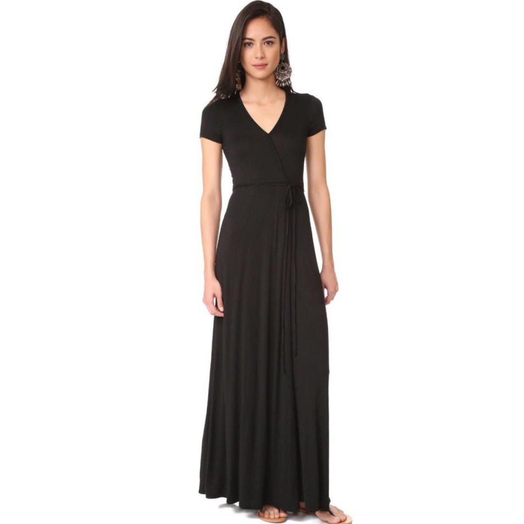 💋V-neck Waisted String Maxi Dress