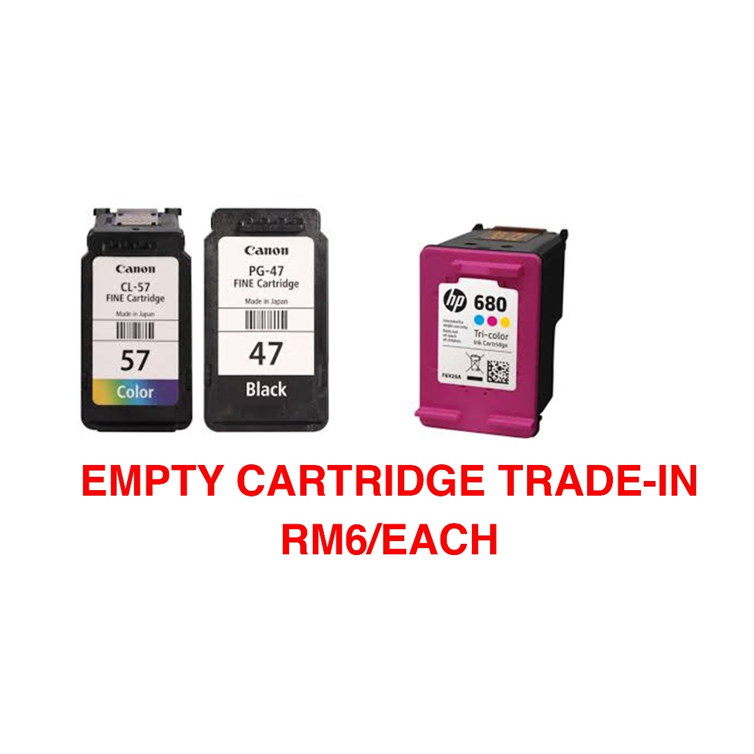 We Accept Empty Ink Cartridges Trade In Electronics Computer Parts Canon Cl 57 Original Cartridge Accessories On Carousell