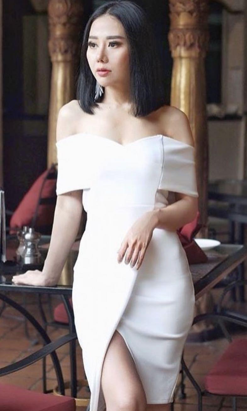 WHITE DRESS FREE ONGKIR