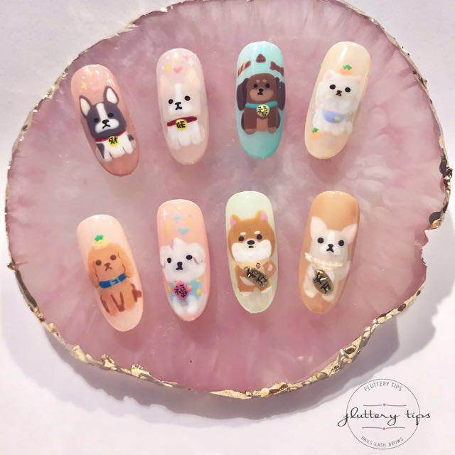 Year Of Dog Nail Art Lash Health Beauty Hand Foot Care On