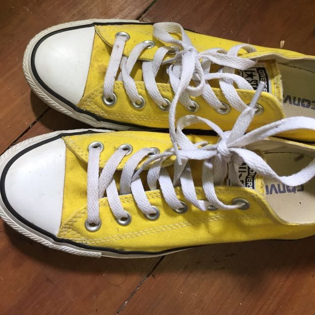 Yellow Converse Low Tops