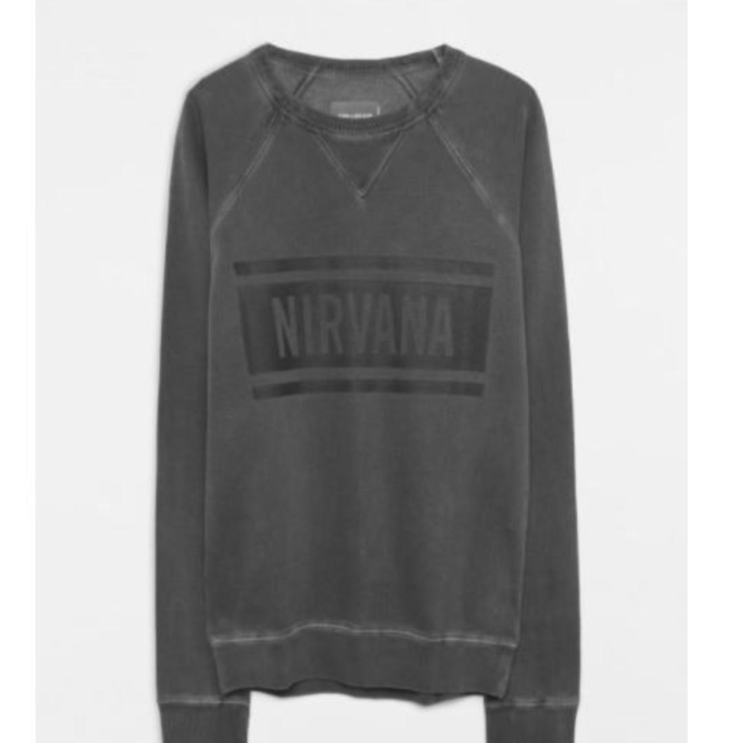 Zadig and Voltaire Women James Overdyed Gray NIRVANA Sweatshirt Sz Small Retailed $225 NEW