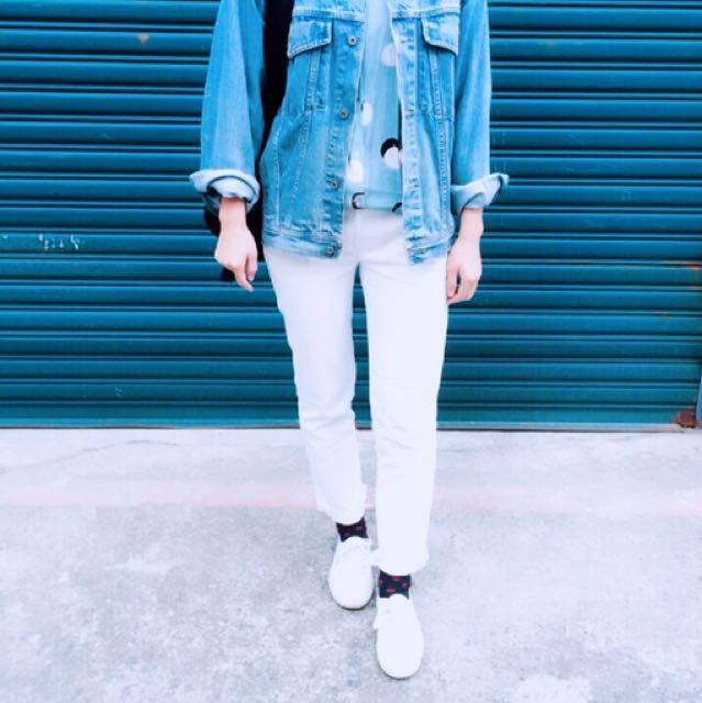 Zara白褲(挺料 非雪紡)