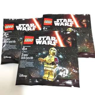 STAR WARS LEGO: C-3PO RED ARM LIMITED EDITION MINIFIG POLYBAG