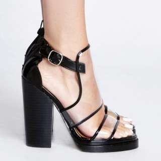 Jeffrey Campbell Syrus Clear Heels