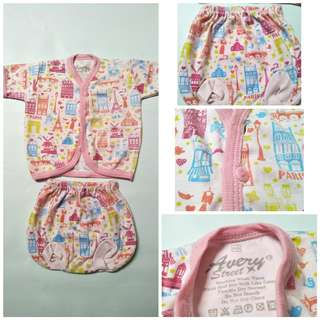 Setelan baju bayi newborn pink