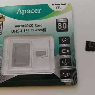 Apacer 128GB microSDXC UHS-1 80MB/s (Made in Taiwan)