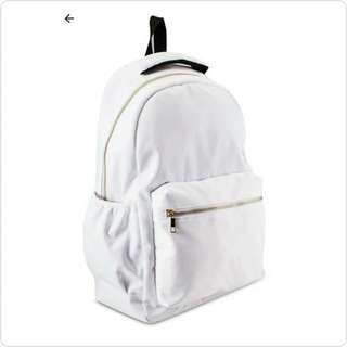 #WHITE STYLE BRAND NEW BACKPACK