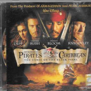 MY PRELOVED VIDEO CD - PIRATES OF THE CARRIBBEAN - CURSE OF THE BLACK PEARL /FREE DELIVERY (F7P))