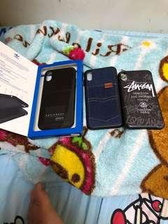 正版Adidas 手機殼stussy 手機套牛仔布手機套iphone x iPhone 8 iphone 7 iphone 6