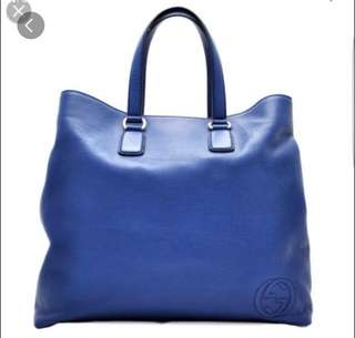 Gucci leather tote.99% New