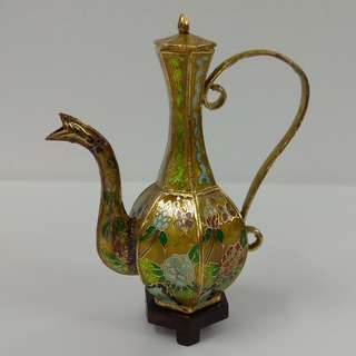 Cloisonne Ornamental Hand-painted Miniature Wine Pot