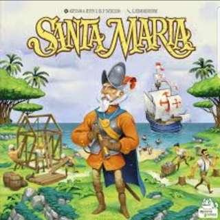 (Limited ) Santa Maria Brand New Board Game