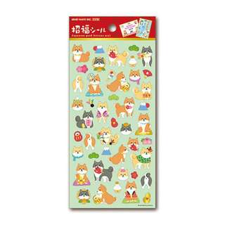 Only 1 Instock! (Mix & Match)*Mind Wave Japan - Japanese Good Fortune Seal Nihon Shinba Inu theme Stickers